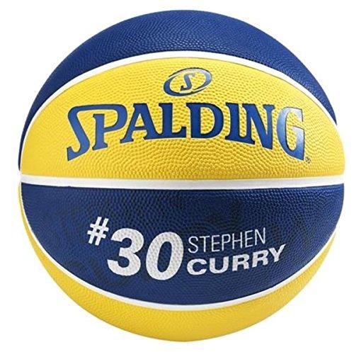 Spalding Nba Player Stephen Curry Sz.5 (83-400Z) Balón de Baloncesto, Amarillo / Azul, 5