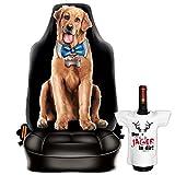 Scherzartikel - Sitzbezug für Autos Motiv Funny Dog für Hundeliebhaber lustige Geschenkidee Autositzbezug mit lustigem Mini T-Shirt