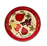 Tuscany Garden Colorful Hand Painted Mixed Fruit, Serving Pasta Bowl Salad Fruit 13-1/2'W, 89299 by ACK