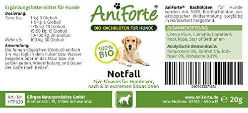 AniForte® Bachblüten Five Flowers Notfall für Hunde 20g Globuli – Naturprodukt für Hunde