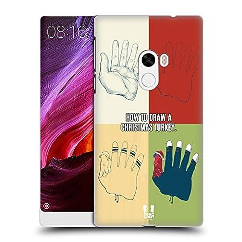Head Case Designs Zeichnen Weihnachten Türkei Ruckseite Hülle für Xiaomi Mi Mix
