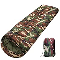 Casecover Camouflage Sleeping Bag Lightweight Portable Waterproof Warm Great for Camping Hiking Backpacking Travel Outdoor Activities Sleeping Bags