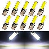 EverBrightt Cool T10 blanco paquete de 10 COB 18SMD silicona Interior LED bombillas para repuesto luces maletero la luz DC 12V