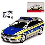 alles-meine GmbH VW Volkswagen Passat B8 Variant Kombi Polizei Berlin Ab 2014 H0 1/87 Herpa Modell Auto mit individiuellem Wunschkennzeichen