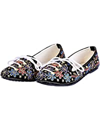 Women Fancy Zari Work Floral Design Ballerina Sandals