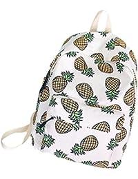 OURBAG Damen Rucksack Mädchen Ananas Wassermelone Banane Schultasche Handtasche für Reise Schule