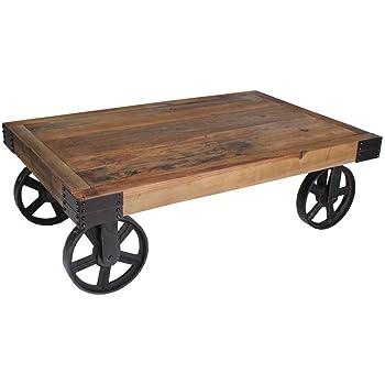 Dasmöbelwerk Massivholz Couchtisch Holz Metall Im Industrie Design