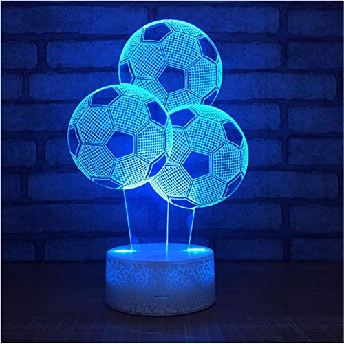 3D Led Nachtlicht 7 Farbwechsel Led Schreibtisch Tischlampen Kinder Schlafzimmer Lampe Baby Spielzeug Geschenk ()