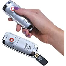 Duronic SP300S 2.4GHz Smart-Pointer RF Wireless Plug and Play Presenter, Laser Pointer with Case - Silver