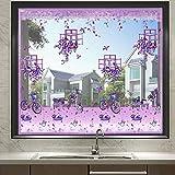 Fliegengitter Tür Fenster Insektenschutz Magnet Fliegenvorhang Für Schiebefenster Dachfenster,Pink,150cmx200cm