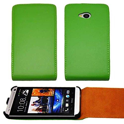 caseroxx Handyhülle mit Flip-Cover für HTC One, Schutzhülle für das Smartphone Flipcase (Handytasche klappbar in grün)