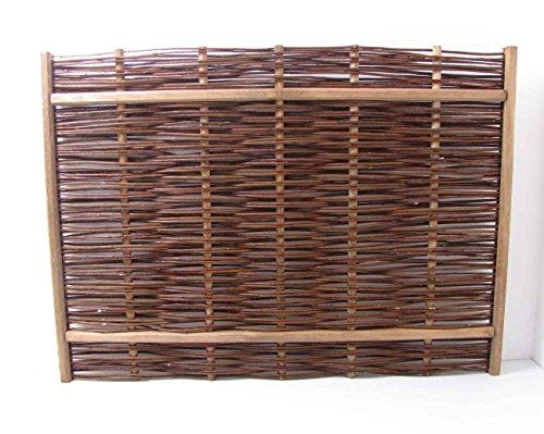 Dekorative Sichtschutzwand Kiefer/Weide 110 x 80 cm Zaunelement Sichtschutz
