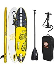 Tabla ISUP Paddel Surf Hinchable X2 ZRAY, STAND UP + Palas + Mochila+Bomba de Aire