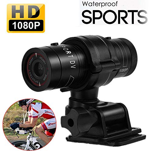 Hangang Mini Deportes cámara 1080p Full HD acción impermeable Deporte casco Moto Casco cámara de video DVR AVI Video Videocámara ayuda 32 GB TF tarjeta ideal para Escalada Esquí Equitación, etc.