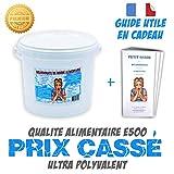 Bicarbonate de soude 5Kg Alimentaire E500'Extra fin'+ guide d'utilisation