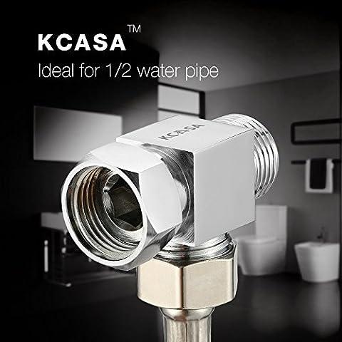 Paleo KCASA™ cobre accesorios de baño cocina válvula de ángulo de conexión distribuidor de agua del grifo de tres