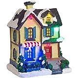 Décoration Maisonnette pour Village de Noël Lumineux par Lights4fun