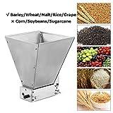 InLoveArts Mulino per smerigliatrice per cereali artigianale, mulino per malto d'orzo a 2 rulli regolabile in acciaio inossidabile, frantoio per smerigliatrice per cereali (Manual)