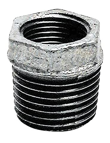 Sanitop-Wingenroth Temperguss Reduzierstück Nummer 241 mit Innengewinde, 1/2 x 3/8 Zoll, verzinkt, silber, 13180 3