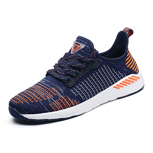Gomnear Atmungsaktiver Sneaker Mens Frauen Laufen Leicht Paar Beiläufig Mesh Gehen Sportlich Sport Schuhe Orange 47