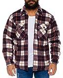 Fashion Herren Thermohemd gefüttert - mehrere Farben ID530, Größe:M;Farbe:Braun