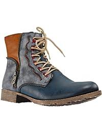 75586, Botas Desert para Mujer, Azul (Jeans), 38 EU Rieker