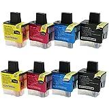 2juegos = 8unidades cartucho de tinta compatibles como Repuesto para LC41LC47, LC09, uso con Brother DCP-110C, DCP-120C, dcp-310C, DCP-310CN, DCP-315C, DCP-315CN, dcp-340cn, DCP-340CW, fax-1835, FAX-1835C, FAX-1840C, FAX-1940, fax-1940C, fax-2240, fax-2240C, fax-310, MFC-210C,, MFC-215C, MFC-3240C, mfc-3100MFC-3240CN, MFC-3340CN, mfc-3342cn, MFC-410CN, MFC-295CN, MFC-425CN mfc-430cn, mfc-5540cn, MFC-5440CN, MFC-5840CN, mfc-610cn, MFC-620CN, mfc-640cn, MFC-640CW Impresoras de Inyección de tinta