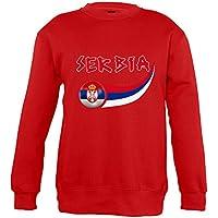 Supportershop–8Sweatshirt Serbia 8Mixta niños, Rojo, FR: L (Talla Fabricante: 8años)