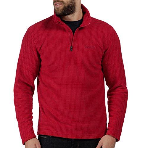 Regatta Mens Elgon Half Zip Grid Knit Thick Warm Fleece Top