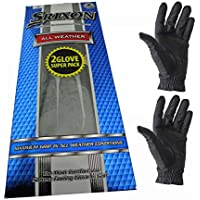 Srixon Men's All Weather Glove (Pack of 2) – (Left Hand Glove for a Right Handed Golfer) – Black – Various Sizes