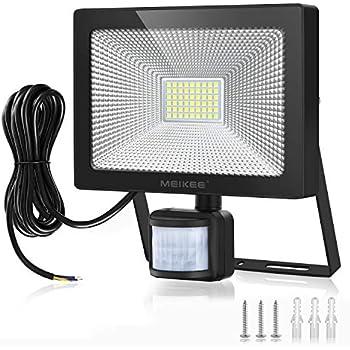 Sensibilité Extérieur Détecteur Led Pir Réglable 5000lm Projecteur De 6500k Lampe Capteur 50w Lumière Exterieur Mouvement Meikee Infrarouge gm6IvYbf7y