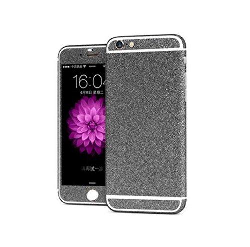 iPhone 6 / 6S Glitzerfolie Folie 4.7 Glitzer Hülle Skin Bling Diamond Glitzern Handyskin zum Aufkleben (Schwarz)