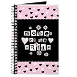 CafePress - Hearts Mother Of The Bride - Spiral Bound Journal Notebook, Personal Diary, Dot Grid