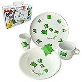 Cartaffini Amici Origami Teller aus Melamin, Teller flach, Suppenteller, Glas, Becher, Tasse. im Geschenkkarton