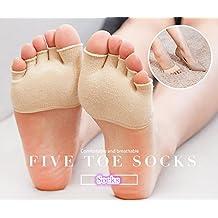 Kry cinco dedos calcetines para hombres y mujeres verano algodón fino en la parte delantera de la mitad Invisible calentadores de la pierna zapatos de Yoga calcetines de Athletic