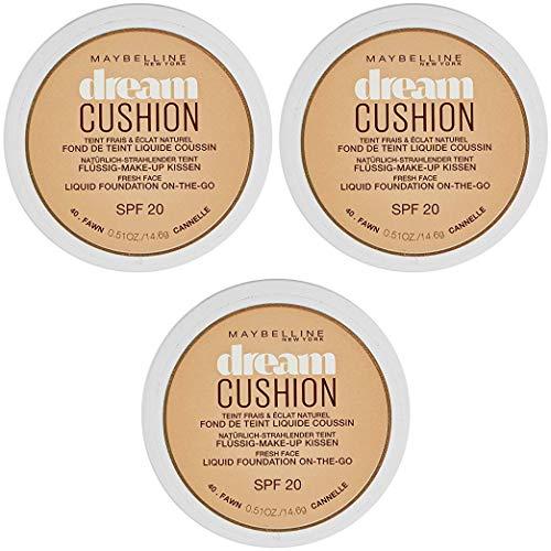 Dream Cushion Fond de Teint Liquide Coussin 40 Fawn cannelle - Lot de 3