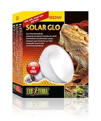 Exo Terra PT2334 Solar Glo - Sonnenlicht simulierende Lampe 80W (Exo Reptilien Terra)