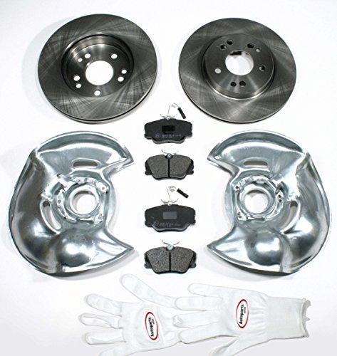 Preisvergleich Produktbild Autoparts-Online Set 60012494 Bremsscheiben / Bremsen + Bremsbeläge + Sensoren + Spritzbleche für vorne / die Vorderachse