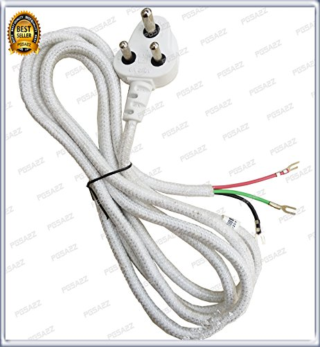 PGSA2Z AC 250 Steam Generator Iron Power Cable Plug 3 Core Mains Cord Lead