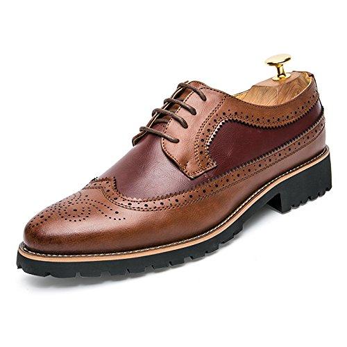 bullock ha inciso le scarpe moda maschile casual scarpe casual scarpe, scarpe da uomo bullock d'inghilterra brown