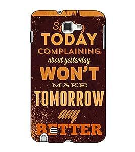 Fuson Designer Back Case Cover for Samsung Galaxy Note N7000 :: Samsung Galaxy Note I9220 :: Samsung Galaxy Note 1 :: Samsung Galaxy Note Gt-N7000 (Spending today complaning )