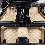 QIONGS Personalizzate Auto Tappetini,per Audi A3 Sportback A5 Sportback TT mk1 A1 A2 A3 A4 A5 A6 A7 A8 Q3 Q5 Q7 S4 S5 S8 tappetini RS Auto, Beige, Beige