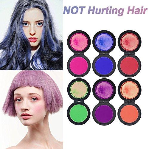 cosprof pelo set-hair, de tiza de tinte temporal DIY color para las niñas pelo para todas las edades, 6colores