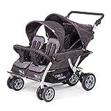 Childwheels Kinderwagen Krippenwagen Quadro Viersitzer Vierlingswagen - mit automatischer Bremse