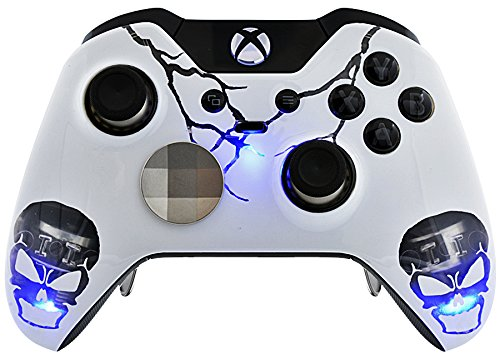 Skull Blau Xbox One Elite Rapid Fire Custom Modding Controller 40 Mods für Alle Major Shooter Spiele, automatisch Ziel, Quick Scope, Auto Run, Sniper Atem, Jump Shot, Active Reload & Mehr - Cod Controller Xbox One