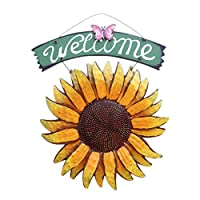 ‏‪Amosfun Welcome Door Sign Retro Wall Hanging Welcome Board Iron Art Wall Sign for Home Restaurant Hotel‬‏