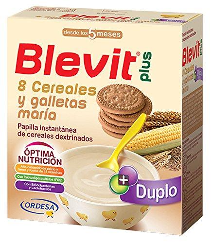 Blevit Plus Duplo 8 Cereales y Galletas María - Paquete de 2...