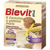 Blevit Plus Duplo 8 Cereales y Galletas María - Paquete de 2 x 300 gr - Total: 600 gr