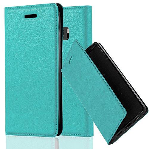 Cadorabo Hülle für HTC 10 (One M10) - Hülle in Petrol TÜRKIS – Handyhülle mit Magnetverschluss, Standfunktion und Kartenfach - Case Cover Schutzhülle Etui Tasche Book Klapp Style