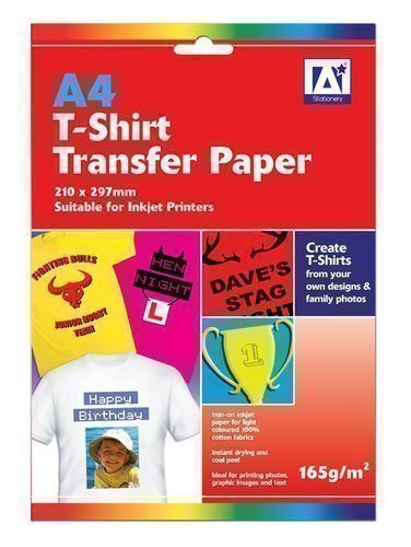 "Price comparison product image Anker 2-Sheet ""Stationary T-Shirt"" Transfer Paper,  Plastic,  Multi-Colour"